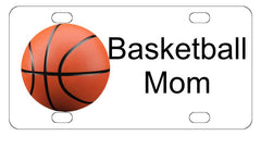 Basketball Mom Sports License Plate