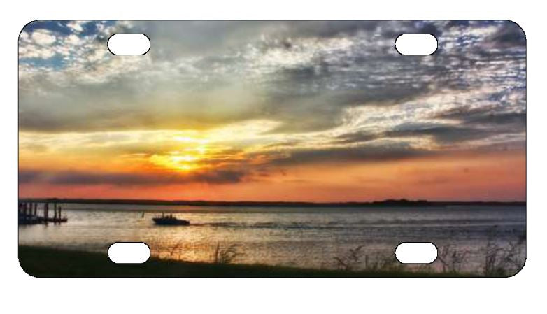 Beach Sunset License Plate