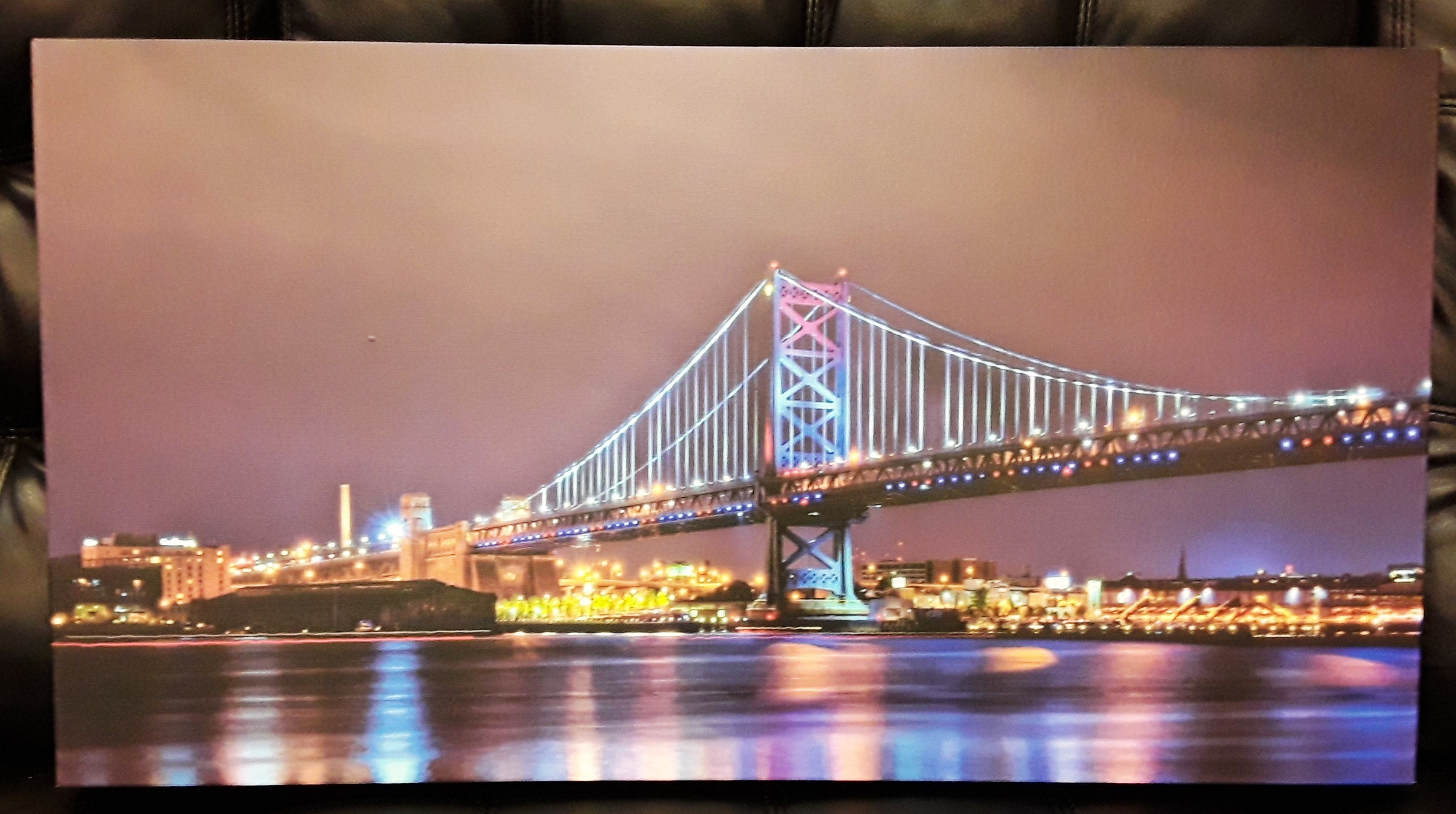 Ben Franklin Bridge Night time Canvas