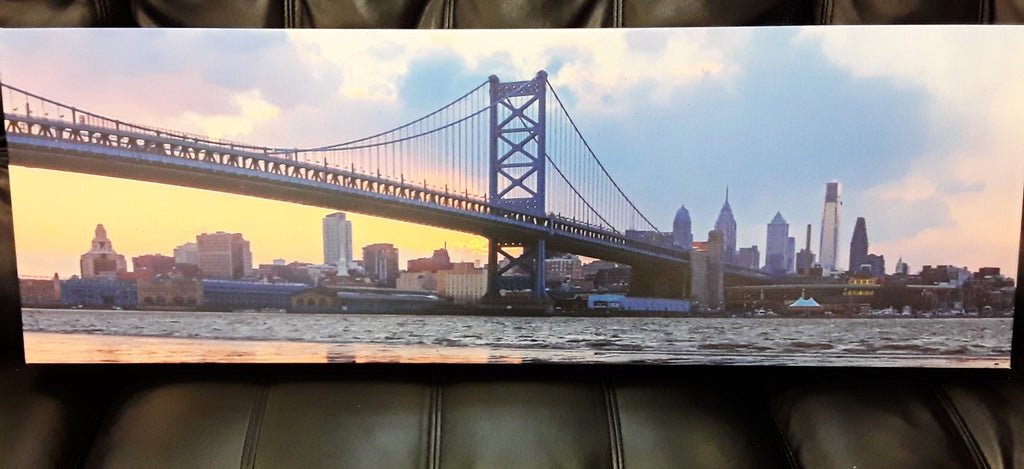 Ben Franklin Bridge Sunset Canvas Print