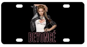 Beyonce License Plate