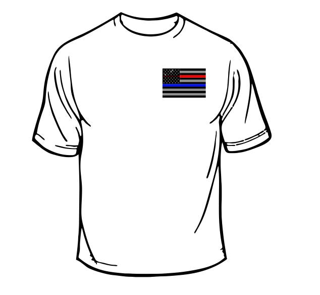 Fire Department/Police Department Flag T-Shirt