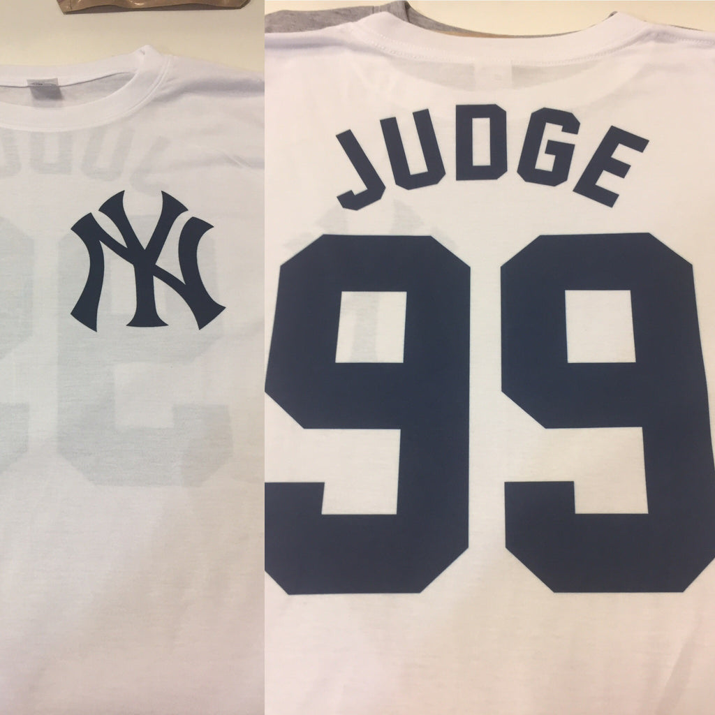 Aaron Judge Jersey T-Shirt (front and back)