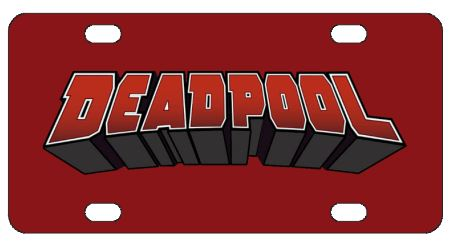 Deadpool Logo License Plate