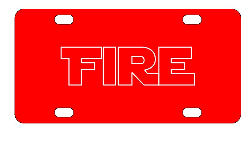 Firefighter Fire License Plate