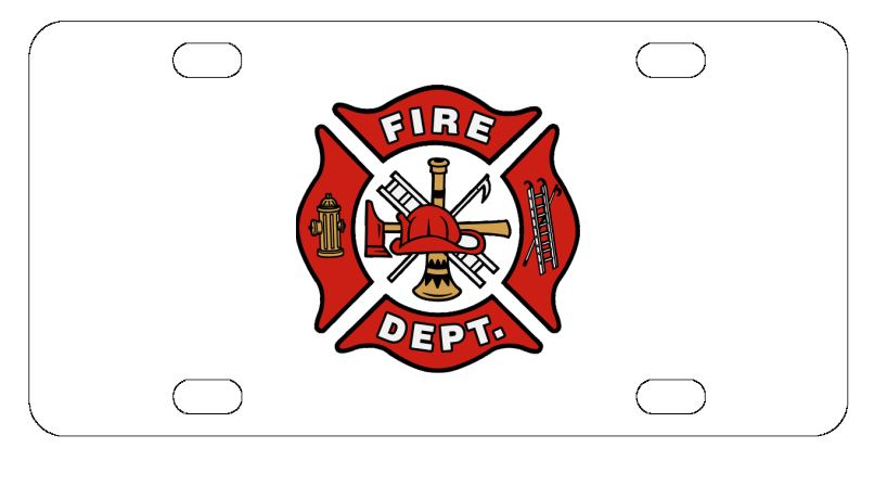Firefighter Fire Dept License Plate