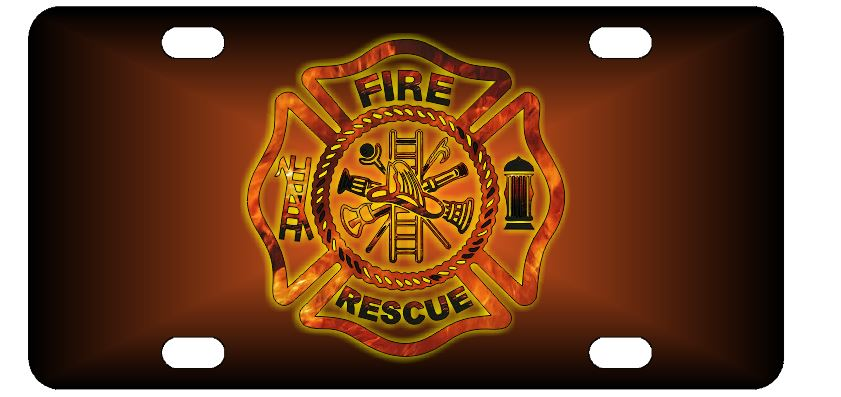 Firefighter Fire Rescue License Plate