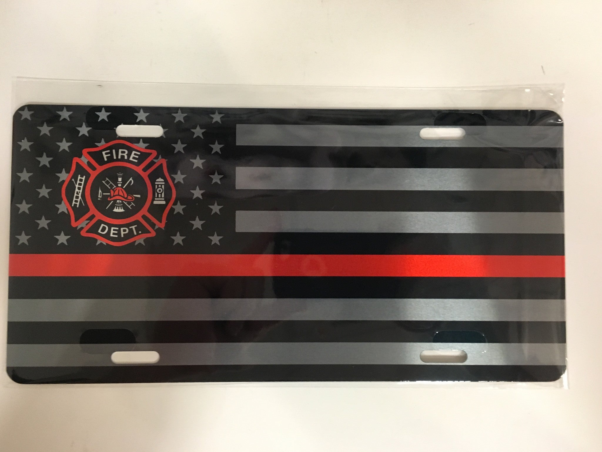 Thin Red Line- Fire Department License Plate