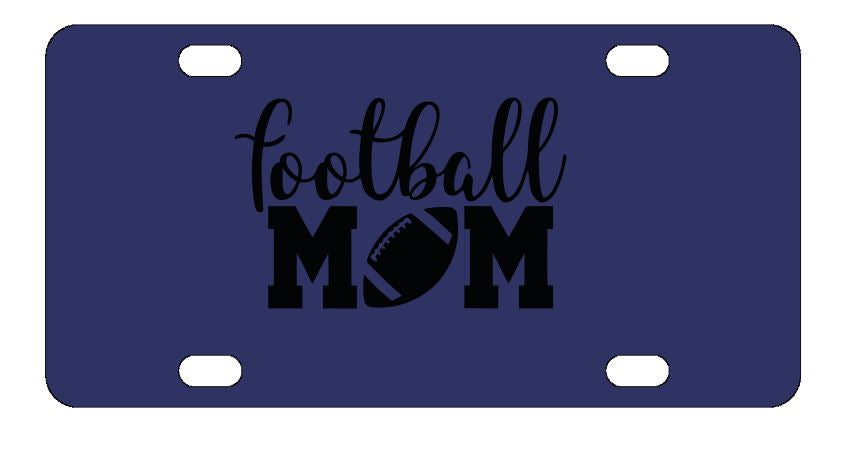 Football Mom Sports License Plate