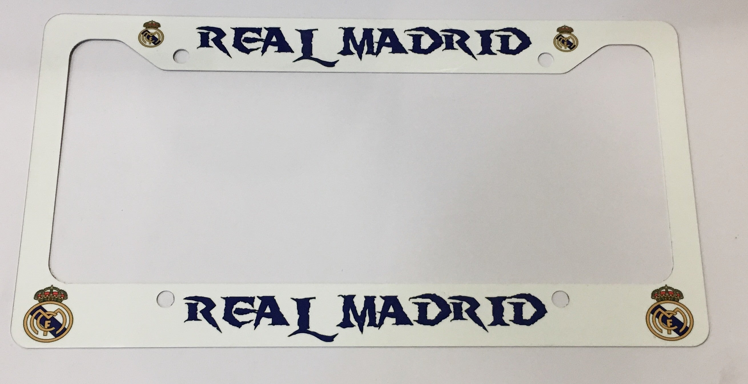 Real Madrid License Plate Frame | Custom Creations