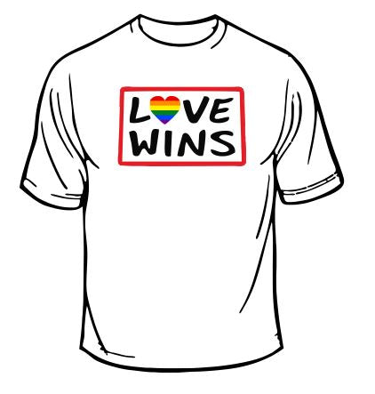 Gay Pride Love Wins T-Shirt