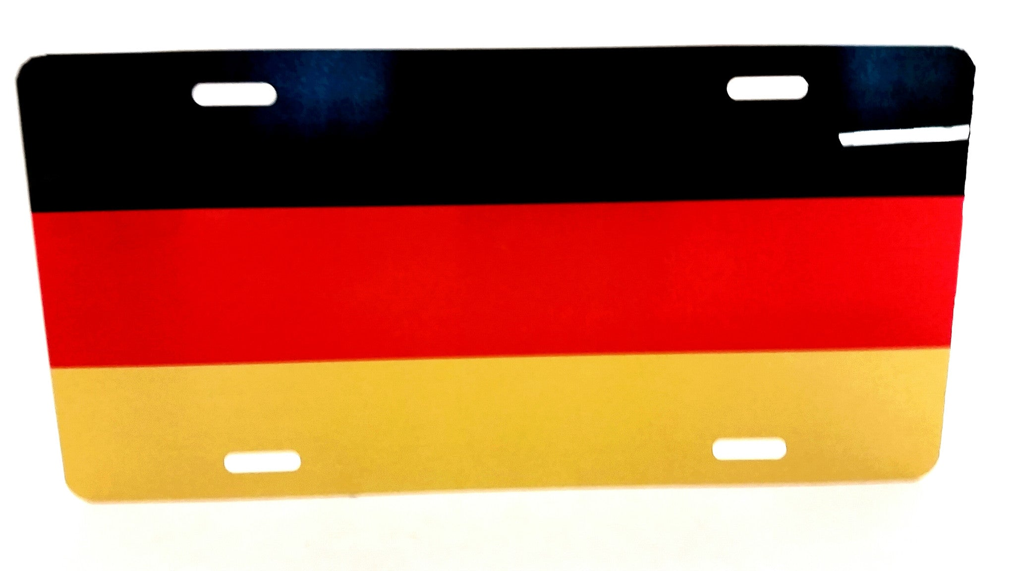 German Flag License Plate