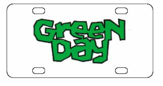 Green Day Kerplunk License Plate