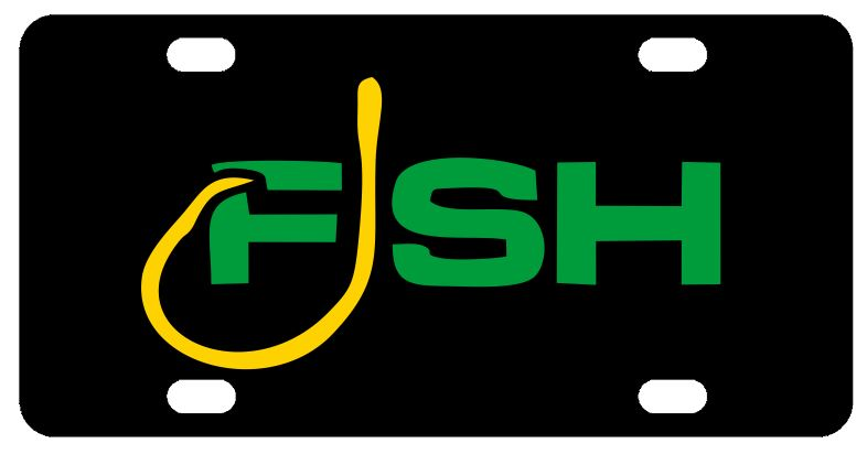 FISH License Plate