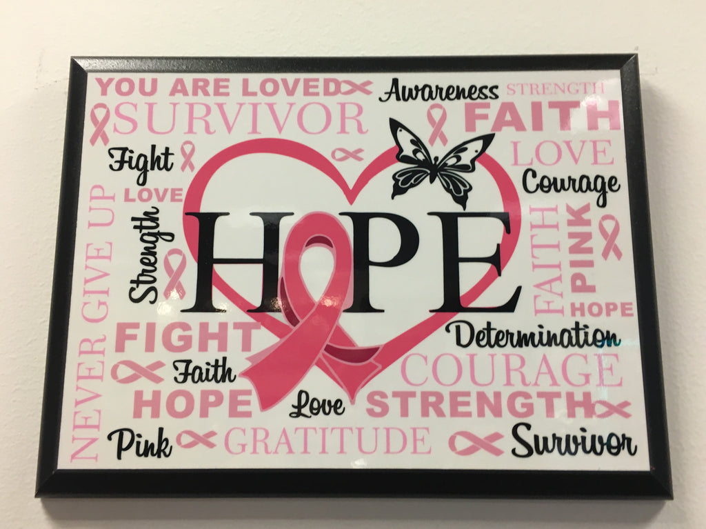 Breast Cancer Awareness - HOPE Plaque