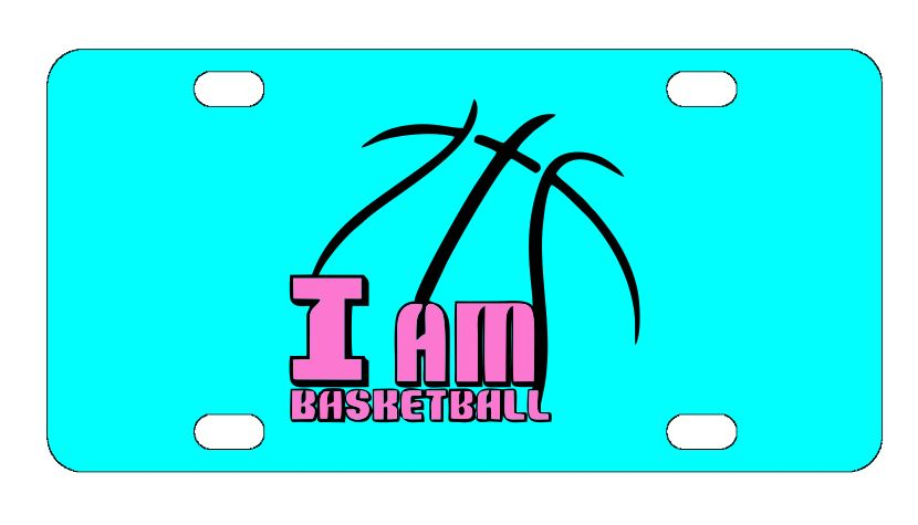I Am Basketball Sports License Plate