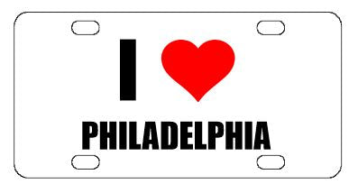I Love Philadelphia License Plate