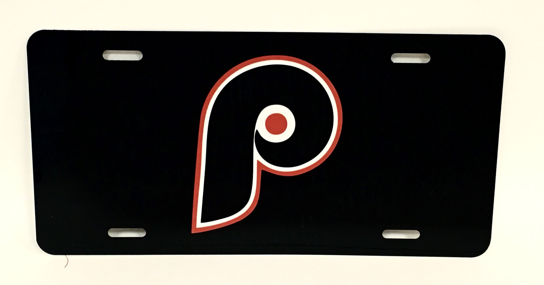 "Philadelphia Flyers Black ""P"" Logo License Plate"
