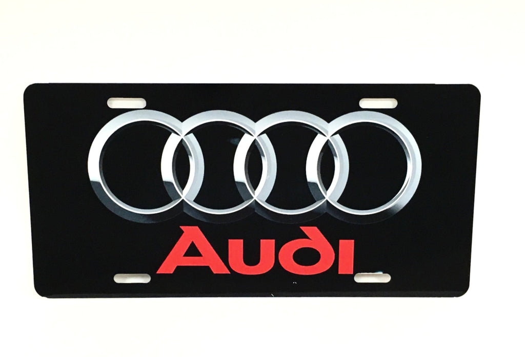 Audi Logo Black License Plate