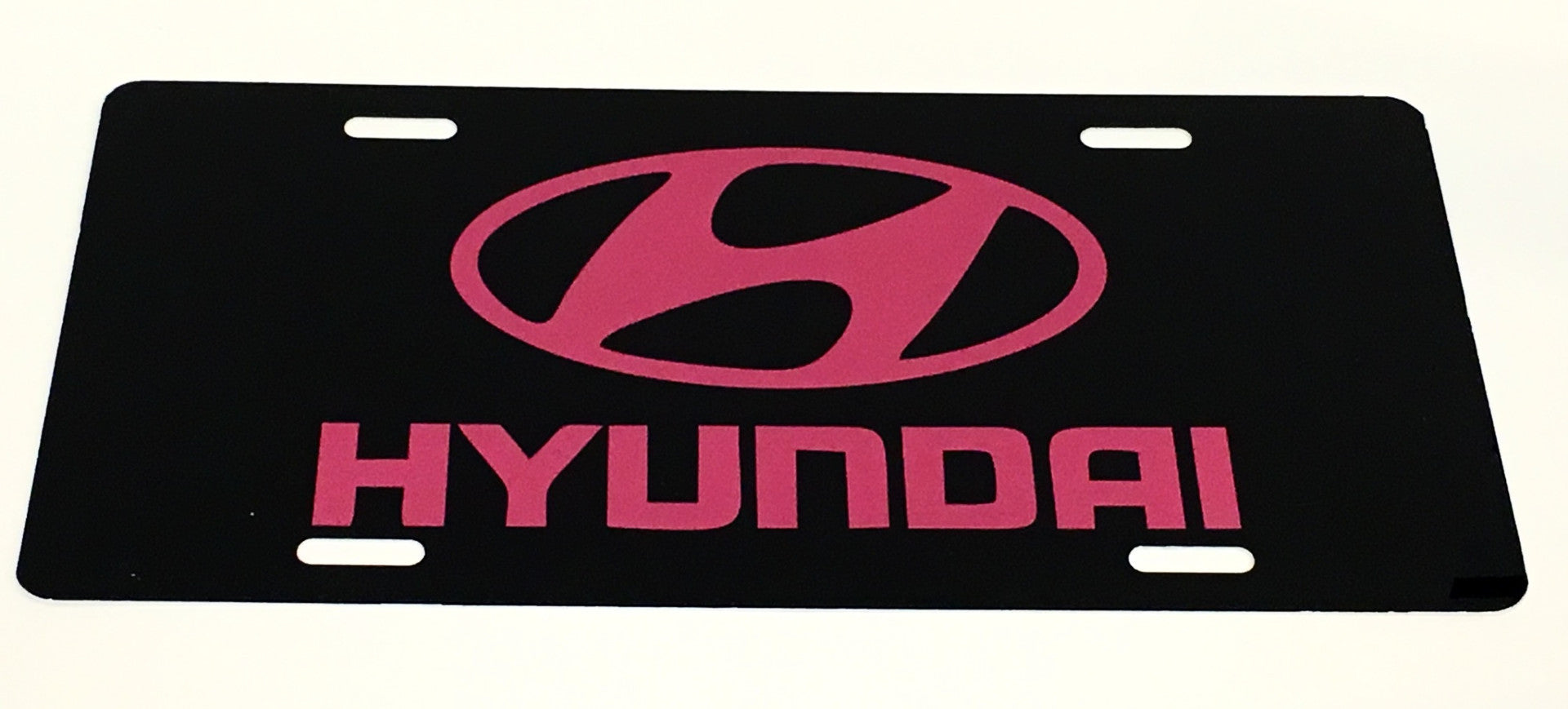 Hyundai Logo Black/Pink License Plate