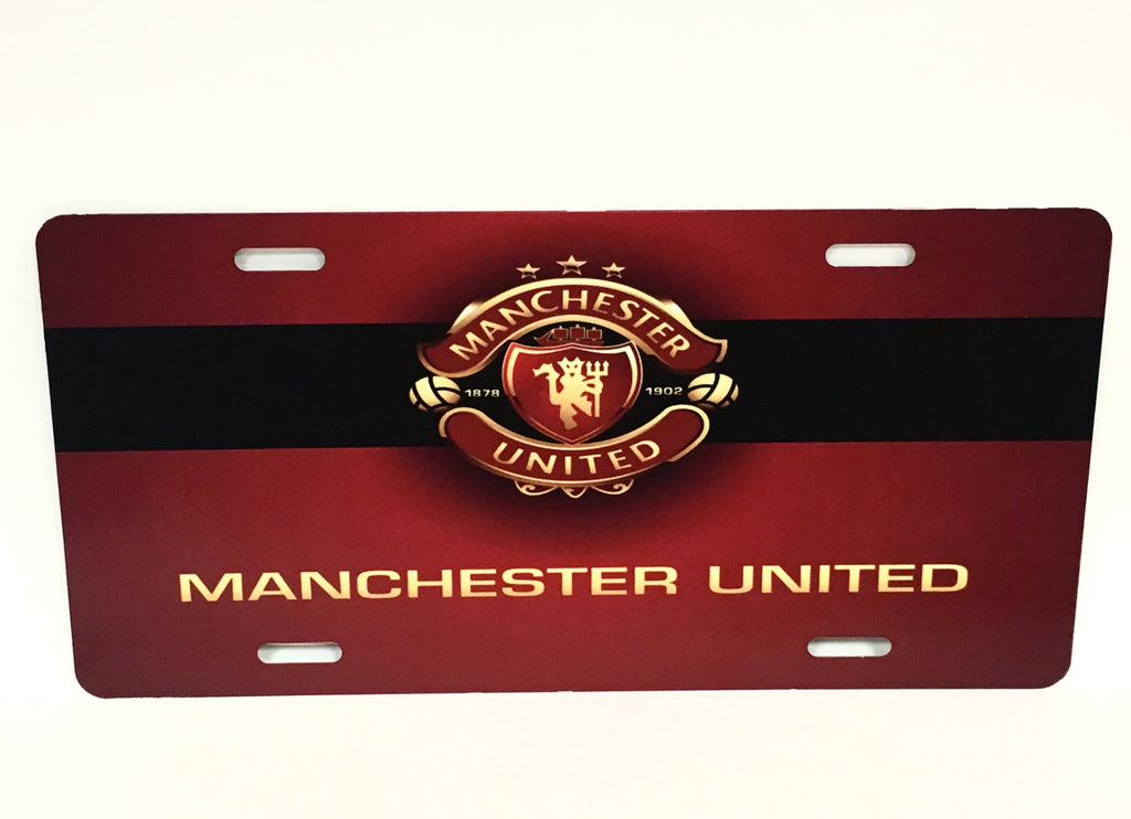 Manchester United Red License Plate