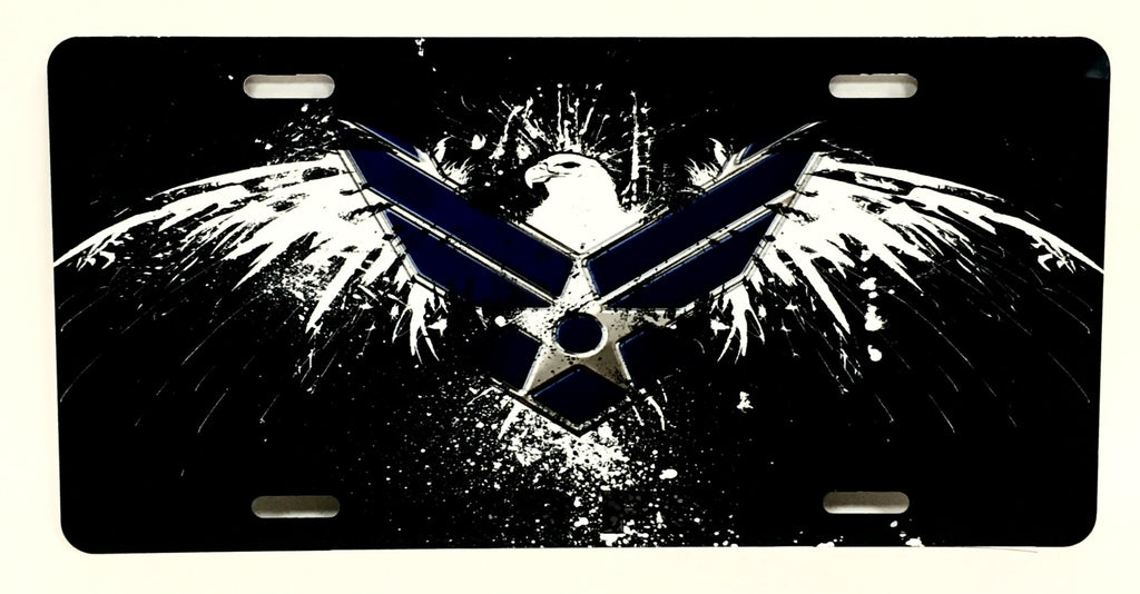 U.S. Air Force Grunge Eagle License Plate