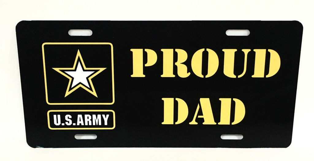 U.S. Army Proud Dad License Plate