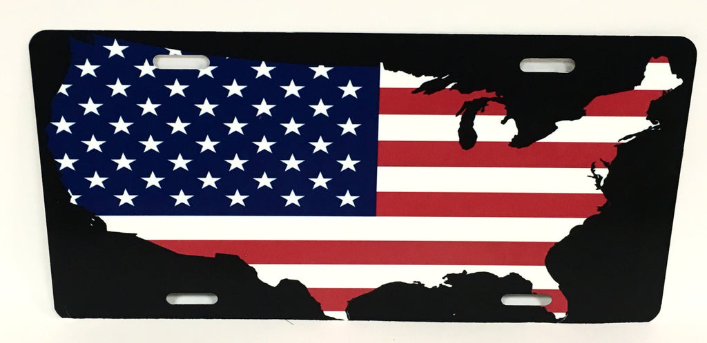 United States American Flag License Plate