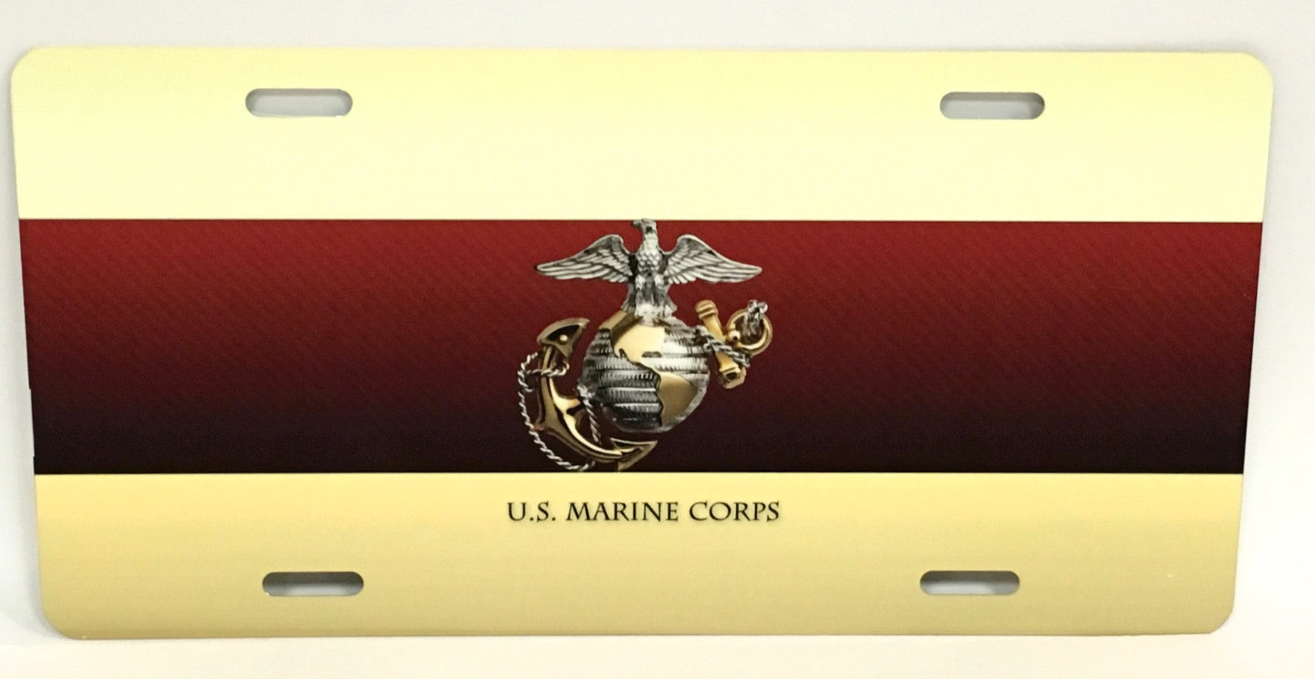 U.S. Marine Corps Red/Gold License Plate