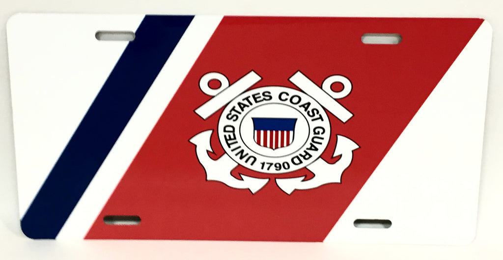 U.S. Coast Guard Logo License Plate