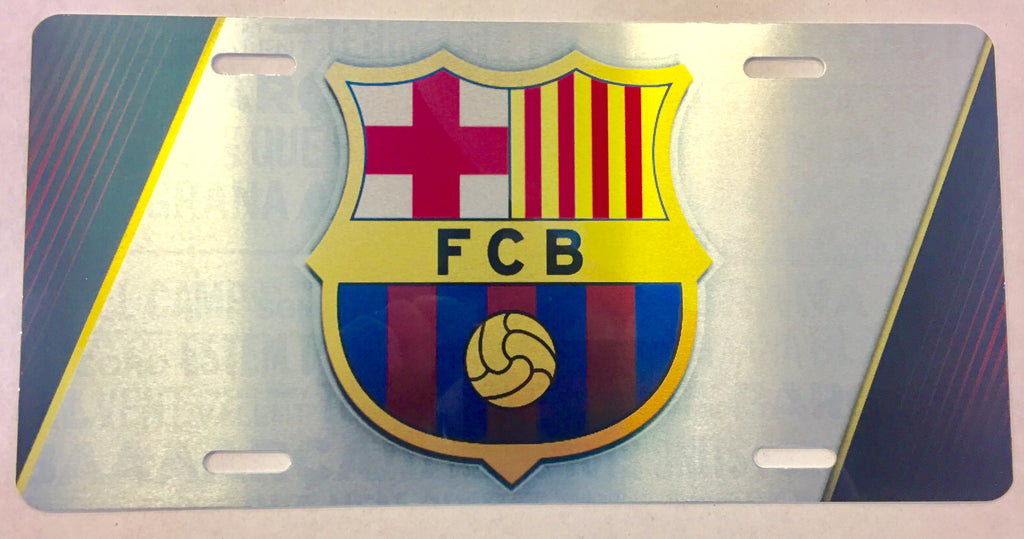 "FC Barcelona ""FCB"" License Plate"