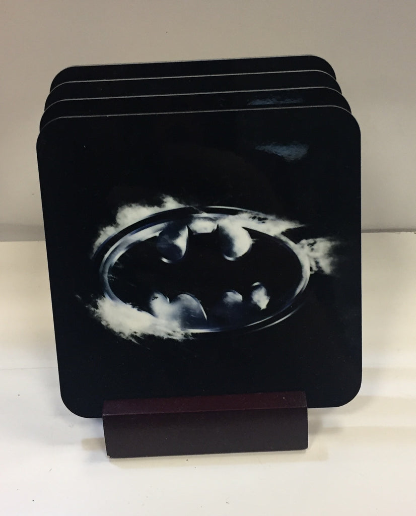 Batman Coasters - Set of 4 (with Mahogany Display Stand)