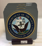 U. S. Navy Coasters - Set of 4 (with Mahogany Display Stand)