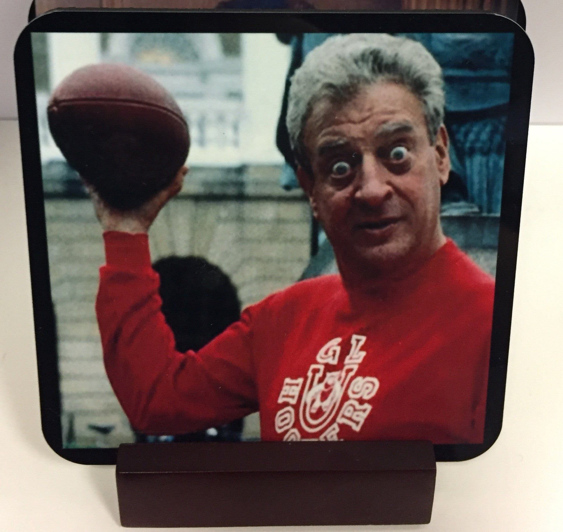 Rodney Dangerfield Coasters - Set of 4 (with Mahogany Display Stand)