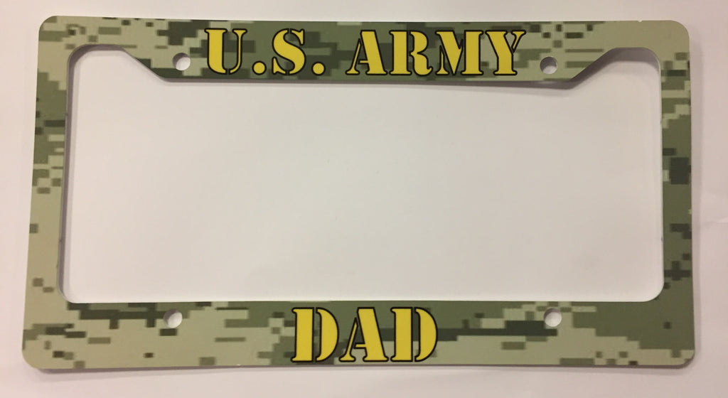 U.S. Army Dad License Plate Frame