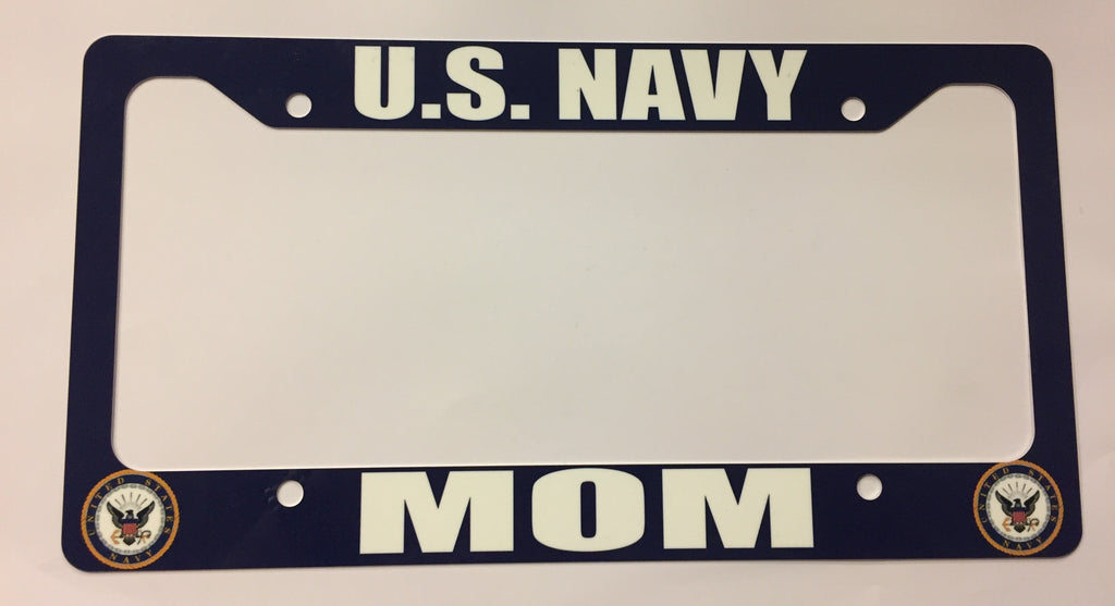 U.S. Navy Mom License Plate Frame