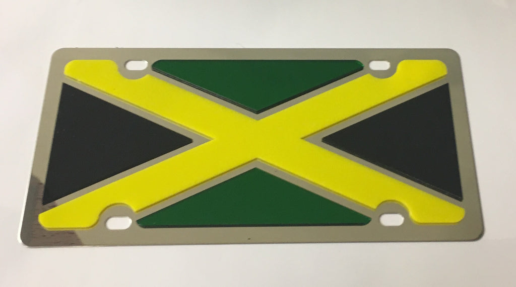 Brasil Flag Stainless Steel License Plate