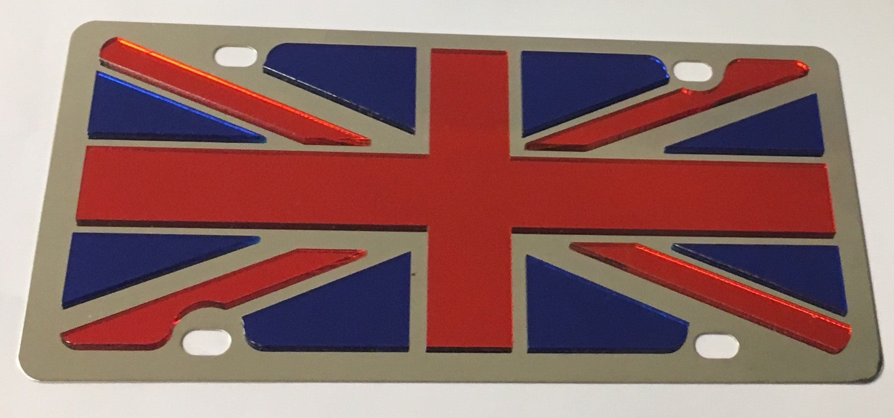 Great Britain Union Jack Flag Stainless Steel License Plate
