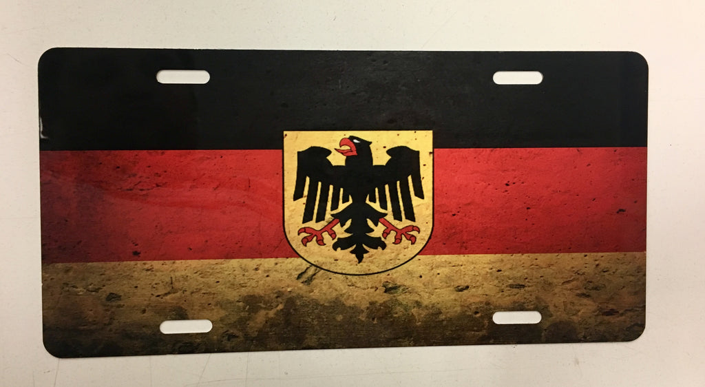 Germany Grunge Flag License Plate