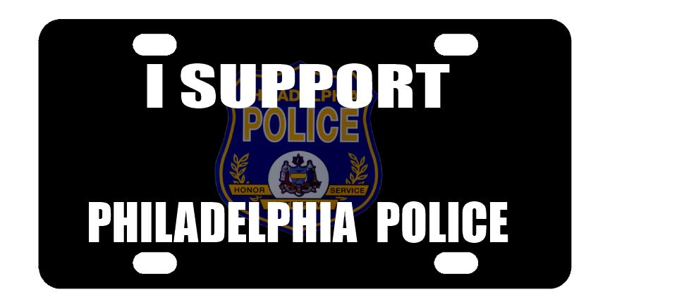 I Support Philadelphia Police License Plate