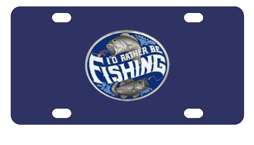 I'd Rather Be Fishing License Plate