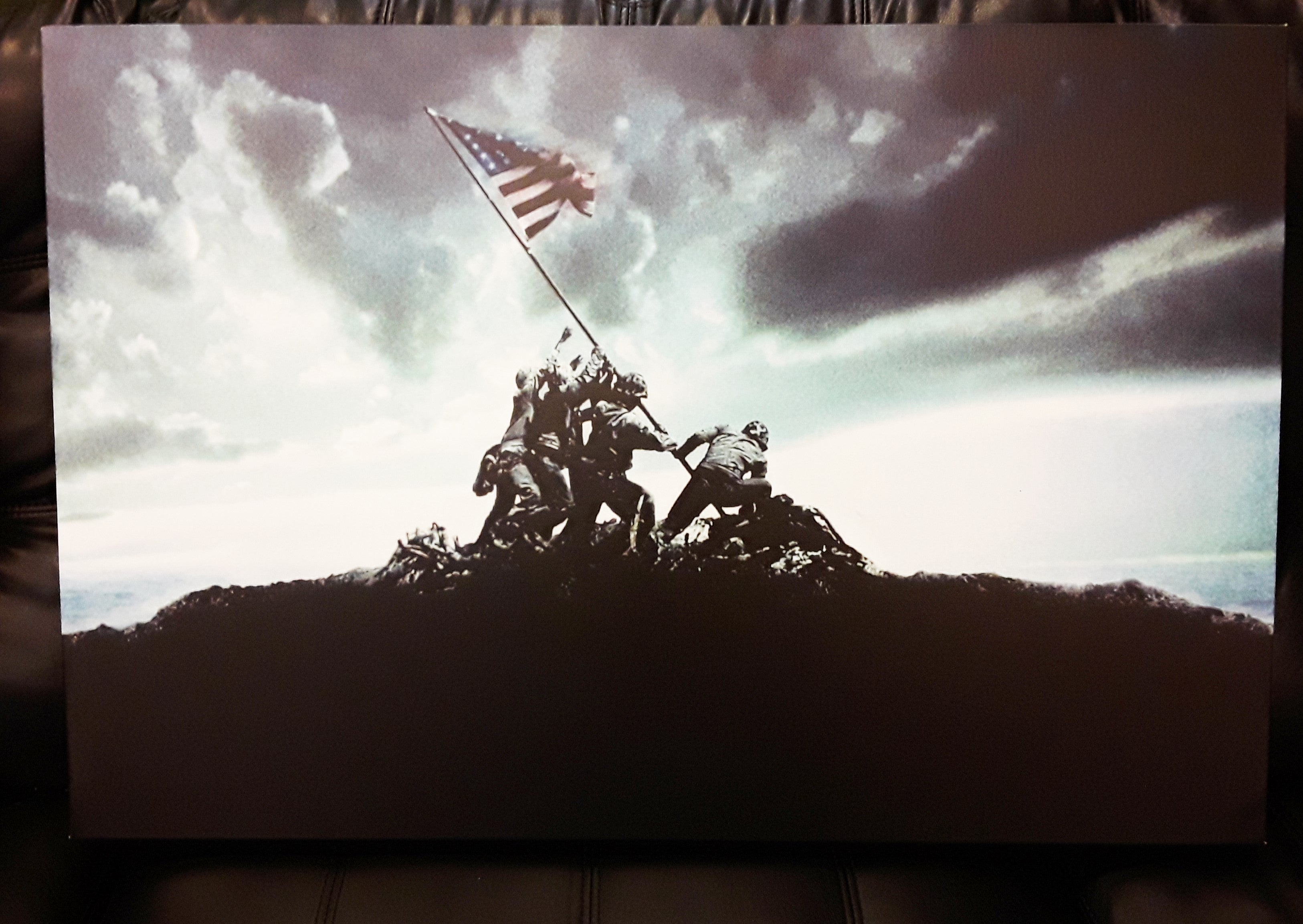 Iwo Jima Flag Canvas Print