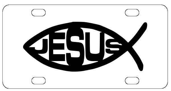 Jesus Christian Fish License Plate