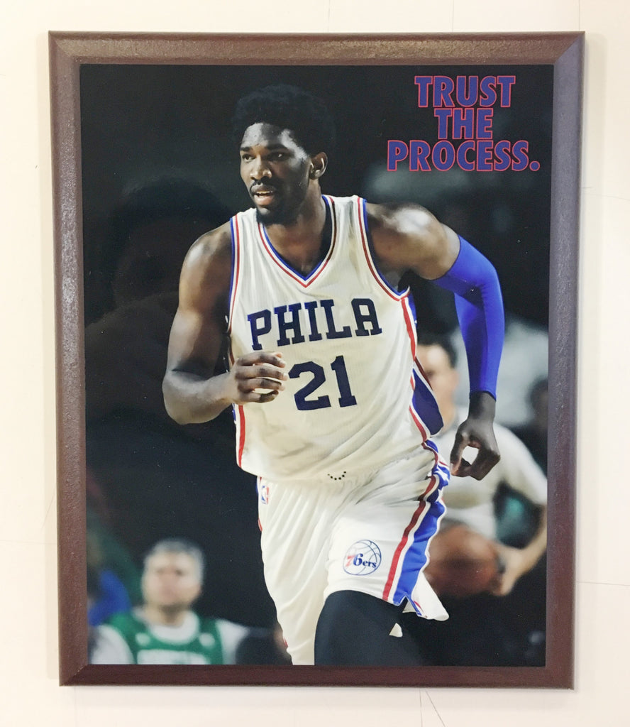 "Joel Embiid ""Trust the Process"" Running Plaque"
