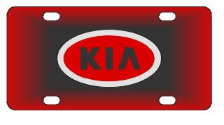 Kia Red License Plate