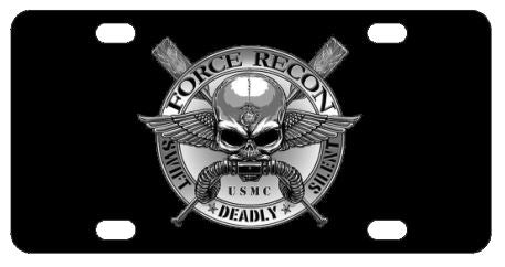 Marines USMC Force Recon License Plate