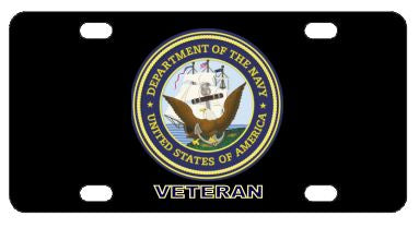 Navy Veteran License Plate