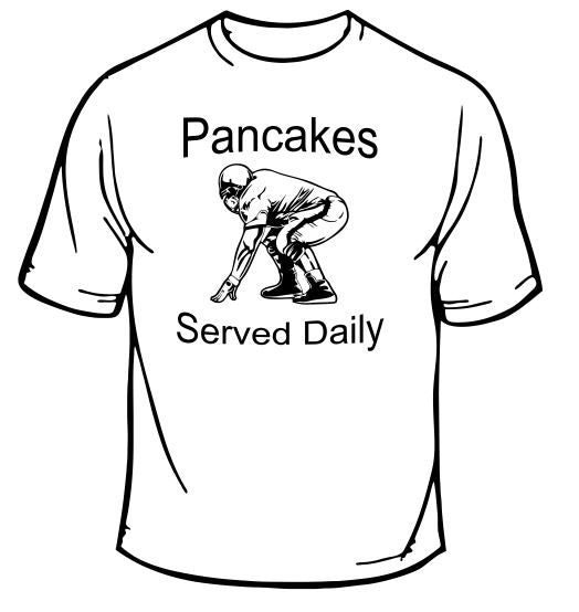 Pancakes Served Daily Football Sports T-Shirt