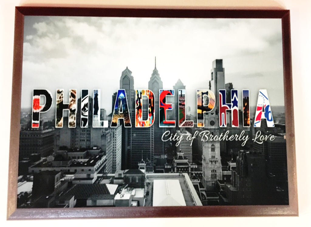 Philadelphia Skyline - City of Brotherly Love Plaque