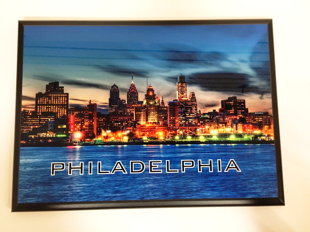 Philadelphia Skyline - Sunset Plaque